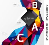 triangle mosaic vector abstract ... | Shutterstock .eps vector #592188899