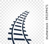 isolated rails  railway top... | Shutterstock .eps vector #592199471