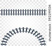 isolated rails  railway top... | Shutterstock .eps vector #592199534