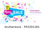 spring sale shopping special... | Shutterstock .eps vector #592201181