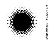 abstract halftone circle of...   Shutterstock .eps vector #592204475