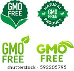 gmo free non gmo food labels... | Shutterstock .eps vector #592205795