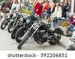 different types of motorcycles... | Shutterstock . vector #592206851