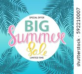 big summer sale abstract... | Shutterstock .eps vector #592210007