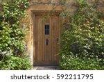 brown wooden doors in an old...