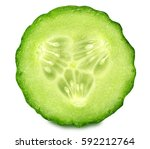 Cucumber Isolated On White...