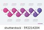 timeline vector infographic... | Shutterstock .eps vector #592214204