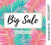 vector big sale banner  poster...   Shutterstock .eps vector #592216997