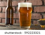cold refreshing american lager... | Shutterstock . vector #592223321