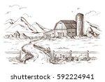 hand drawn vector illustration... | Shutterstock .eps vector #592224941