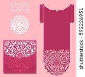 vector die laser cut envelope... | Shutterstock .eps vector #592226951