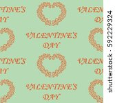 valentine's day  the human... | Shutterstock .eps vector #592229324