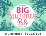 big summer sale abstract... | Shutterstock .eps vector #592237805