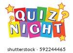 quiz night banner   raster... | Shutterstock . vector #592244465