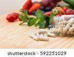 vitamins supplements in bottle...