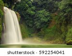 waterfall isola del liri | Shutterstock . vector #592254041