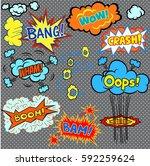 bright comics design elements ... | Shutterstock .eps vector #592259624