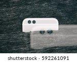 innovative dual lenses mobile... | Shutterstock . vector #592261091
