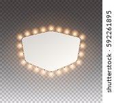 illuminated realistic casino... | Shutterstock .eps vector #592261895