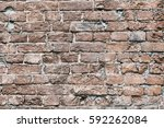 red brick wall background... | Shutterstock . vector #592262084