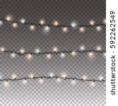 lights string elements isolated ... | Shutterstock .eps vector #592262549
