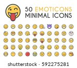 set of 50 minimalistic solid... | Shutterstock .eps vector #592275281