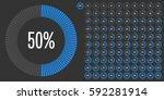 set of circle percentage... | Shutterstock .eps vector #592281914