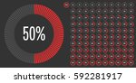 set of circle percentage... | Shutterstock .eps vector #592281917