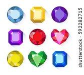 gems isolated on white... | Shutterstock .eps vector #592282715