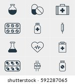 illustration of 12 medical... | Shutterstock . vector #592287065