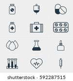 illustration of 12 medicine... | Shutterstock . vector #592287515