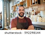 small business  people and... | Shutterstock . vector #592298144