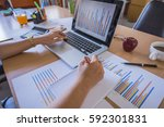 working process startup.... | Shutterstock . vector #592301831