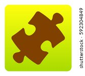 puzzle piece sign. vector....