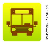 bus sign illustration. vector.... | Shutterstock .eps vector #592310771