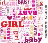 seamless new born baby girl... | Shutterstock .eps vector #59231158