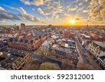 view over historic part of... | Shutterstock . vector #592312001