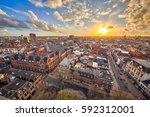 view over historic part of... | Shutterstock . vector #592312001