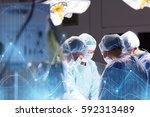 surgery  healthcare  medicine... | Shutterstock . vector #592313489