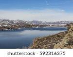 horsetooth reservoir lake | Shutterstock . vector #592316375
