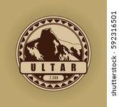 ultar  mountain symbol ... | Shutterstock .eps vector #592316501