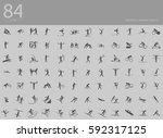 eps10 vector set of 84 winter... | Shutterstock .eps vector #592317125