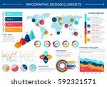 infographic elements design.... | Shutterstock .eps vector #592321571