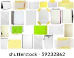 three slices of paper isolated... | Shutterstock . vector #59232862
