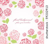 floral card with pink roses | Shutterstock .eps vector #59232913