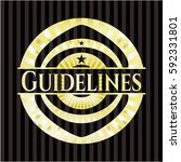 guidelines shiny badge | Shutterstock .eps vector #592331801