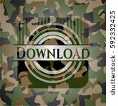 download on camouflage pattern