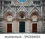 Siena Cathedral Door Closeup A...