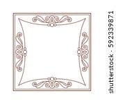 frames .vintage vector.well... | Shutterstock .eps vector #592339871