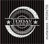 today is your day silvery shiny ... | Shutterstock .eps vector #592341731